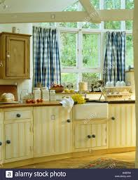 attractive blue and yellow kitchen curtains with adorable curtain
