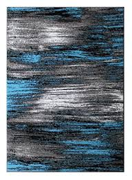 Modern Style Area Rugs Masada Rugs Modern Contemporary Area Rug Blue Grey Black 5