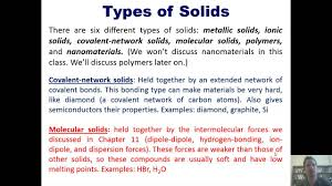 chapter 12 structures of solids part 1 of 6 youtube