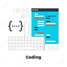 Conceptmodern Coding Flat Icon Material Design Illustration Concept Modern