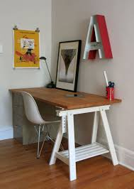 Trestle Computer Desk Best 25 Butcher Block Desk Ideas On Pinterest Desk Ideas