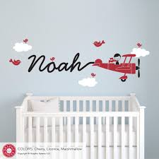 Children Wall Decals Airplane Boy Wall Decal Graphic Spaces