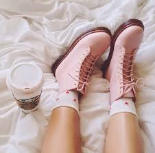 womens boots schuh womens pale pink dr martens 8 eye pastel boots schuh shoes