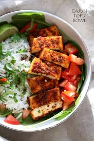 cajun thanksgiving dinner cajun tofu with cilantro lime rice vegan richa
