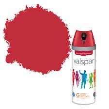 valspar interior u0026 exterior classic red gloss spray paint 400ml
