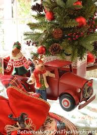 Christmas Vehicle Decorations 23 Best Little Red Trucks Images On Pinterest Country Christmas