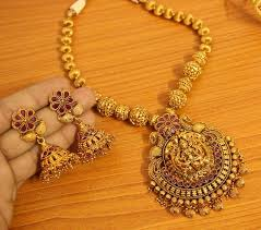 antique jewelry necklace sets images Buy antique gold look fine temple jewellery necklace set sanvi jpg