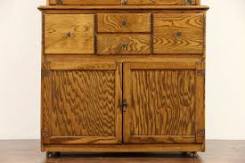 Furniture Kitchen Cabinet With Antique Hoosier Cabinets For Sale Hygena English 1930 U0027s Oak Vintage Hoosier Kitchen Cupboard Or