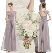 bridesmaid dresses uk silver smokey grey chiffon lace bridesmaid wedding prom