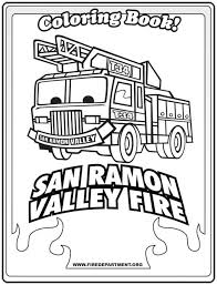 san ramon valley fire coloring book