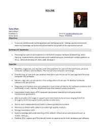 Resume In English Examples by System Administrator Resume Format