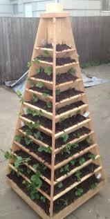 Vertical Garden Planter How To Build A Vertical Garden Pyramid Tower For Your Next Diy