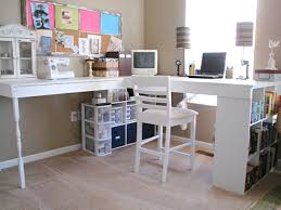 Decorating Desk Ideas Crafting Room With Solid White Pine Corner Desk Ideas And