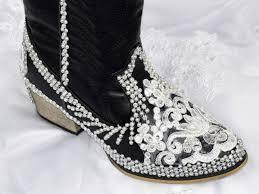 black wedding bridal cowboy boots wedding bridal black shoes