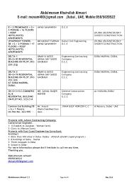Office Clerical Resume Samples by Abdulmonam Almasri C V