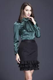 in satin blouses ruffled satin blouse pinteres
