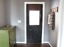 behrs anonymous grey paint beautiful with a black doorpainted
