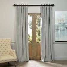 Black Out Curtain Panels Exclusive Fabrics Signature Silver Grey Velvet Blackout Curtain