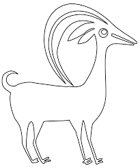 goat mask coloring page animal template animal templates free premium templates