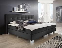 Betten Schlafzimmer Amazon Wellness Edition 15418 Boxspringbett Grau 2xtonnentaschenfederkern