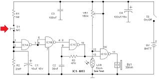 window door alarm circuit