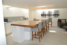 kitchen island worktop 80mm thick oak island worktop bordercraft