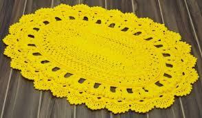 Yellow Circle Rug Round Crochet Rug Free Crochet Patterns