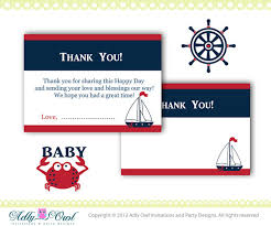 nautical thank you cards nautical ba shower thank you cards in navy blue with nautical