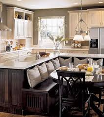Kitchen Island With Bench 28 Best Bench Seating Attached To Island Images On Pinterest