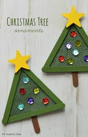 christmas tree ornament burlap crafts craft sticks and craft items