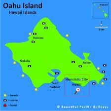 islands map map of oahu island in the hawaiian islands