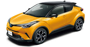 yellow toyota toyota c hr gets two tone exterior colours in japan