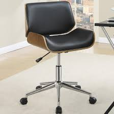 astrid adjustable modern curved wood upholstered swivel office