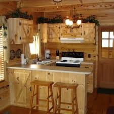 Rustic Kitchen Countertops by English Rustic Corner Small Kitchen Design Come With Grey Granite