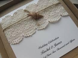 vintage lace wedding invitations themed shell wedding invitation boxed shabby chic