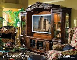 Best Furniture Brands In The World Oppulente 4 Pc Entertainment Wall Unit In Sienna Spice By Michael