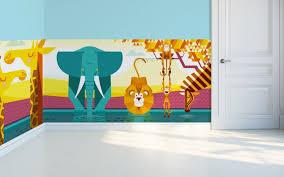 Savanna Jungle Kids Wall Murals Kids Room Wallpaper Baby - Kids room wall murals