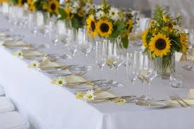 table centerpieces with sunflowers sunflower wedding table decorations wedding decoration ideas gallery