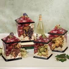 tuscan style kitchen canisters canister bread box pasta jar sugar grape design tuscany