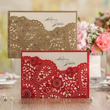 Fancy Wedding Invitation Cards Online Buy Wholesale Laser Cutting Gold Foil From China Laser