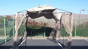 Backyard Canopy Covers How To Install A Home Depot Arrow Gazebo Replacement Canopy Youtube