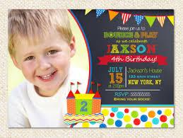 bounce house birthday invitations bouncy house castle