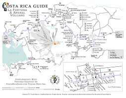 Map Costa Rica La Fortuna Map Map Of Arenal Volcano Costa Rica