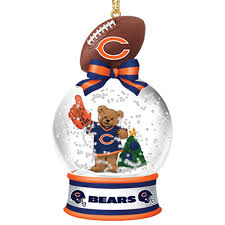 chicago bears ornaments invitation template