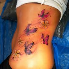 unique butterfly tattoos on rib side tattooshunt com