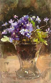 Lisianthus Flower Purple 25in Esther Kjerner 1873 1952 Flower Still Life Flowers Painting