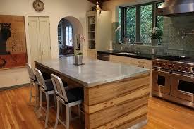 Zinc Kitchen Island - facelift zinc kitchen hood wood leather counter stools french