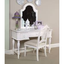 Mirrored Makeup Vanity Table Bedroom Makeup Vanity Table And Chair Set With Mirror Made Of