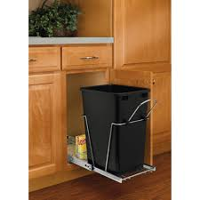 shop pull out trash cans at lowes com rubbermaid garbage can under