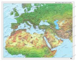 World Map Middle East by Refugee Physical Map Europe Middle East Africa Europe Europe